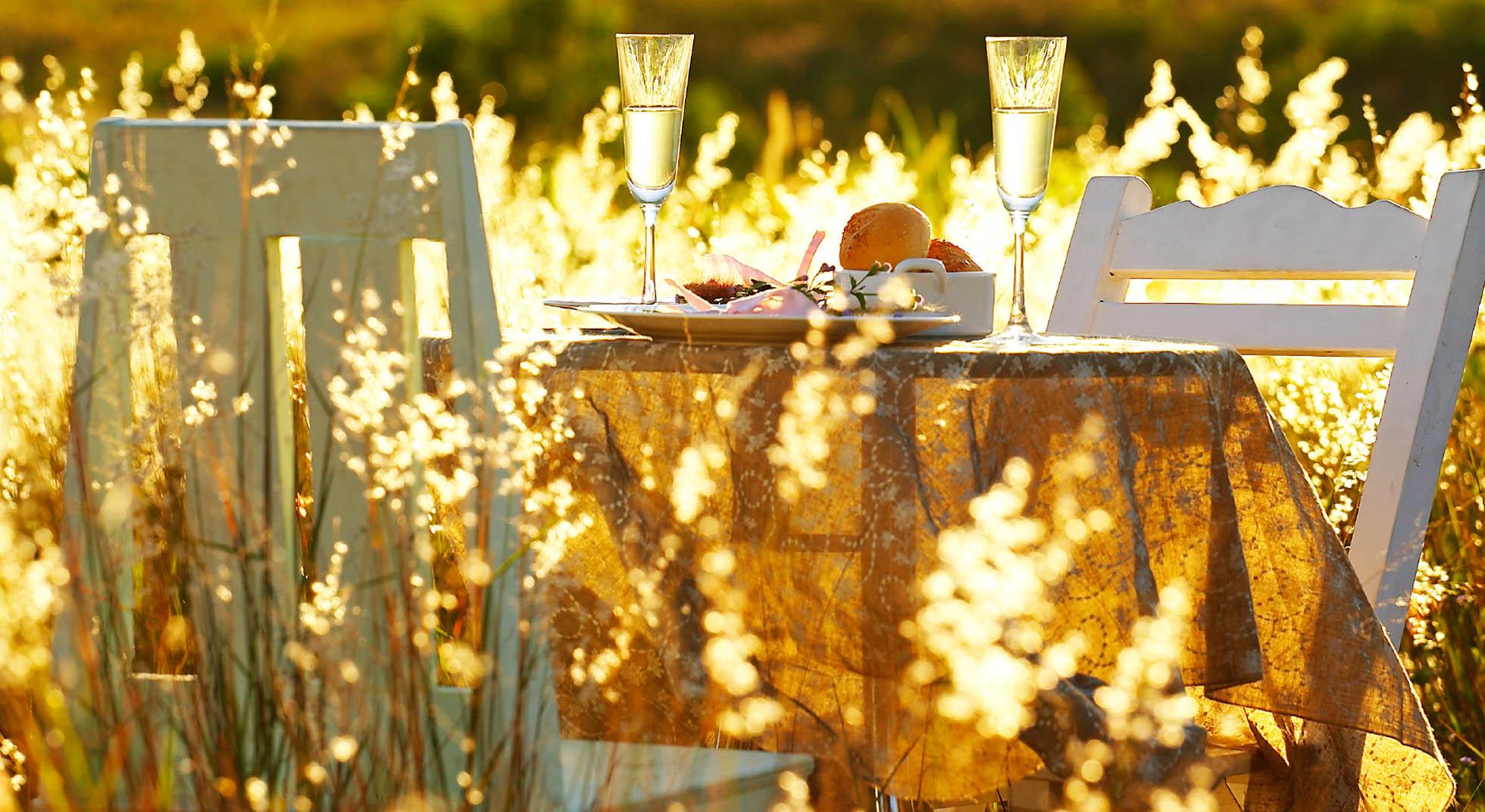 Come organizzare una cena romantica in giardino aia food - Idee cena romantica a casa ...