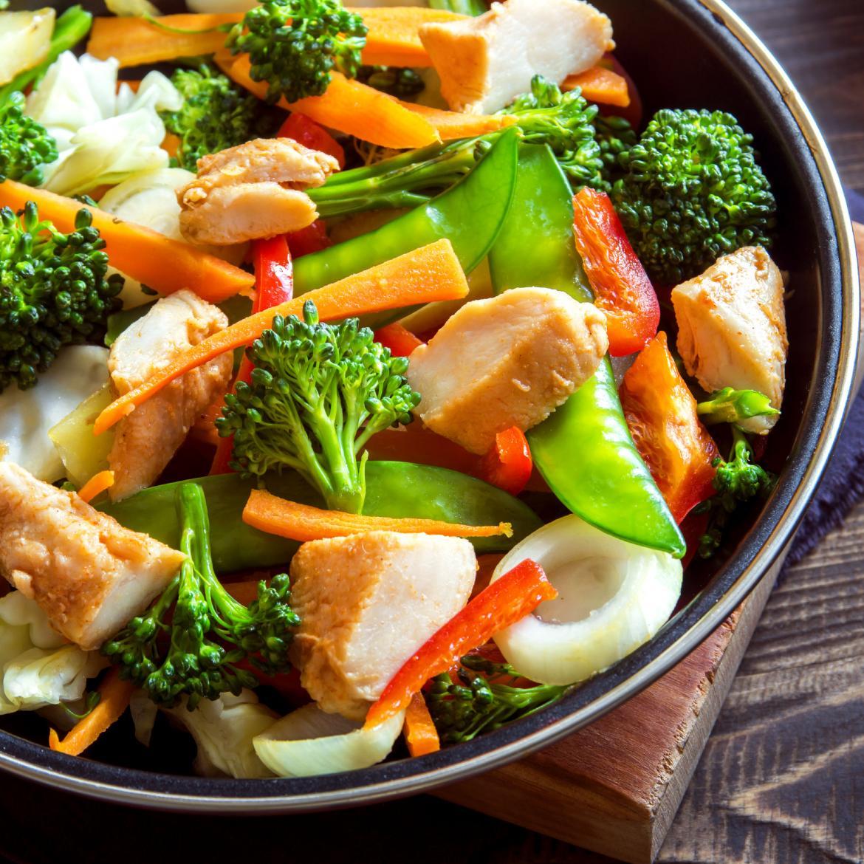 Pollo con verdure in padella aia food for Ricette con verdure
