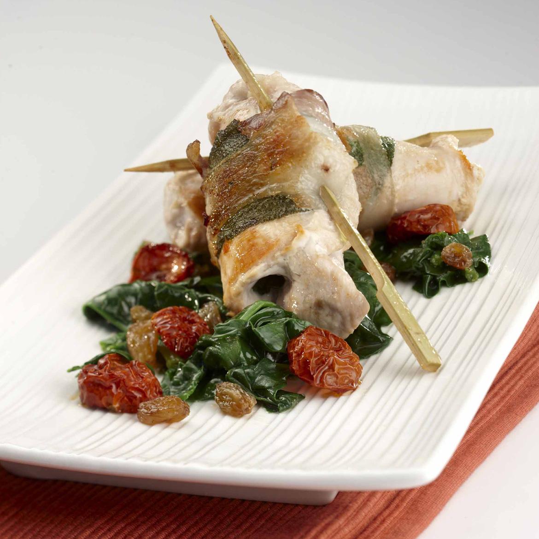 Saltimbocca di tacchino con bietoline in agrodolce aia food for Piatto tipico romano